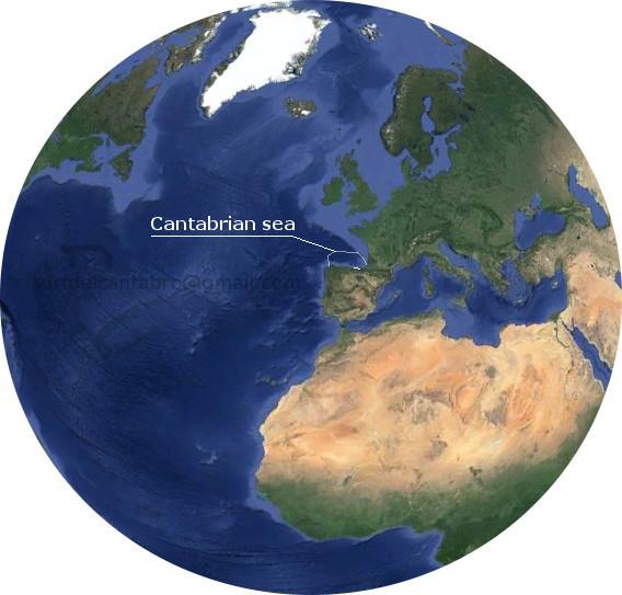 El planeta Tierra y el Mar Cantabrico. Home