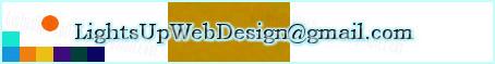 Logotipo del diseñador web: lightsupwebdesign@gmail.com. Acerca de about