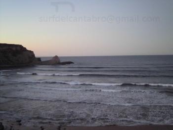 Olas diciembre playa de Langre