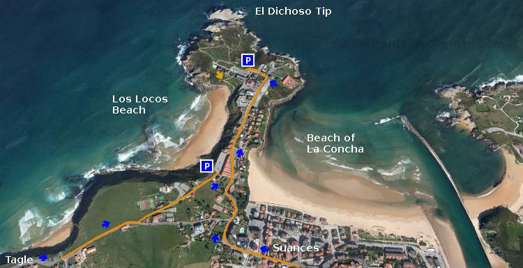 Acceso: Playa de Los Locos